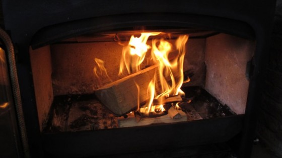 Log Burning Stove fire