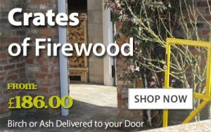 Crates of Firewood and kiln dried logs
