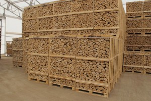 Crates of quality firewood