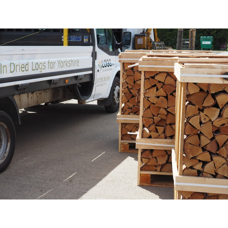 Crates of logs with free delivery