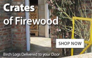 Crates of silver birch firewood delivered direct to your door