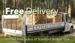 Free delivery of kiln dried firewood in yorkshire