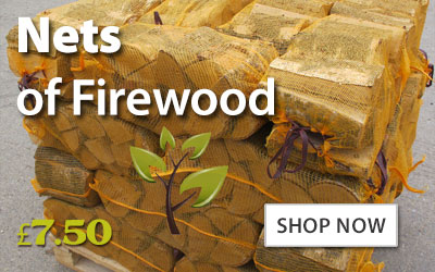 Nets of kiln dried firewood